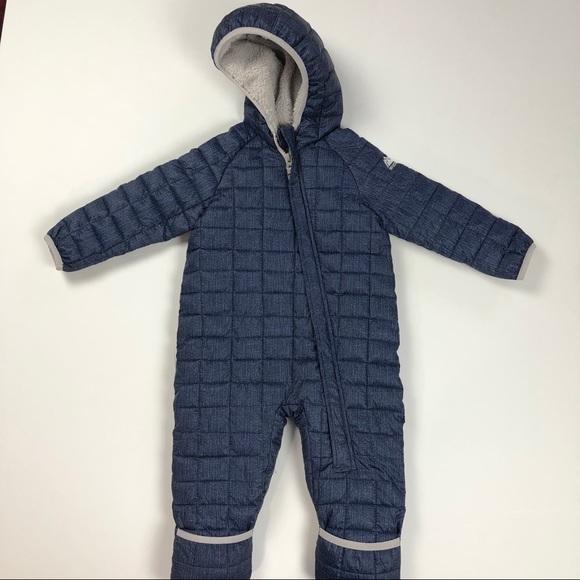 NEW Snozu Snowsuit Bunting Kids Infant 18 Months Blue Fleece Lined Coat NWOT